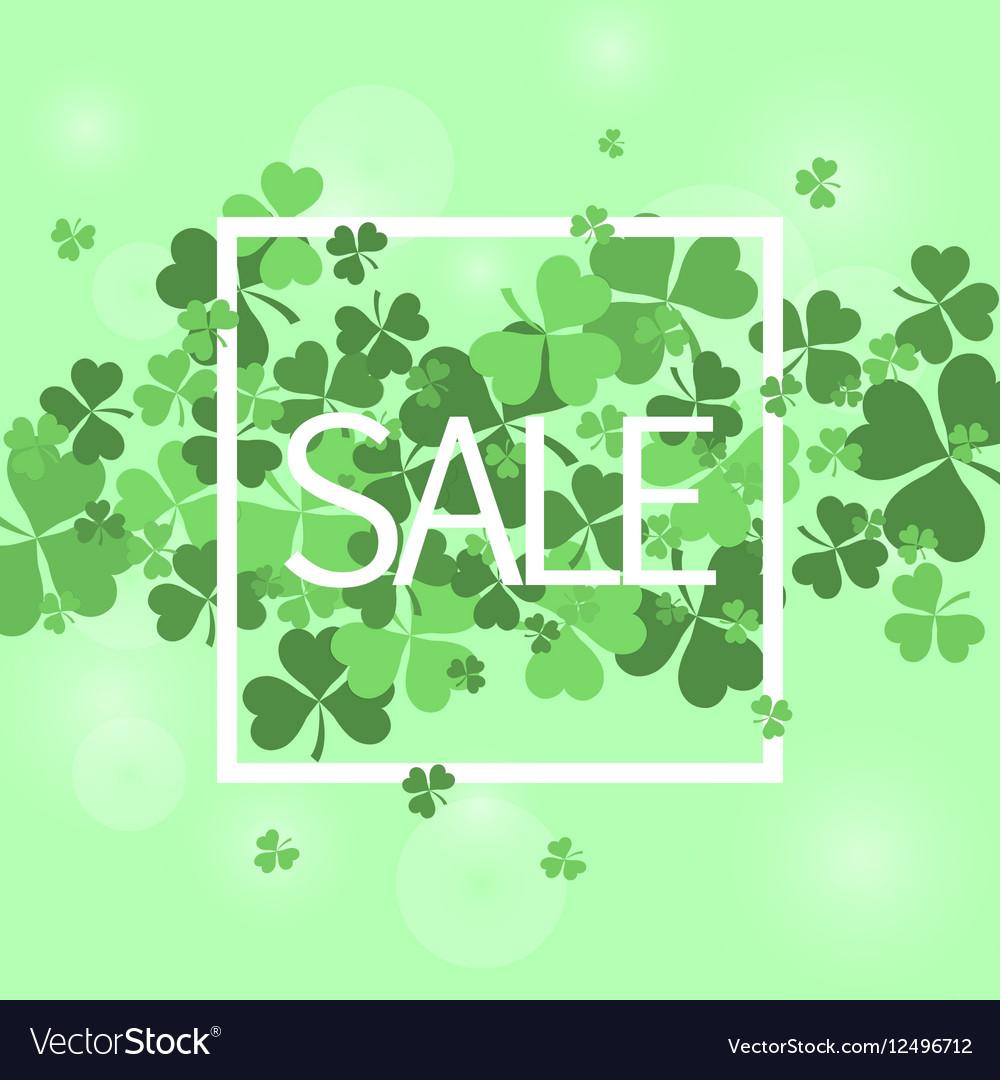 Saint Patrick sale banner vector image