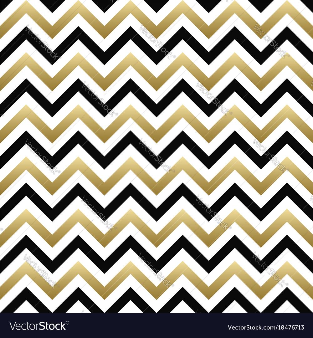 chevron seamless pattern black gold zigzag vector image