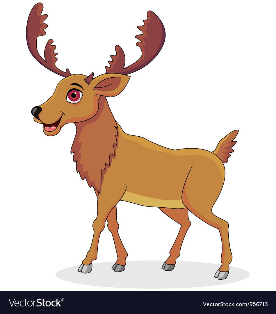 moose cartoon royalty free vector image vectorstock