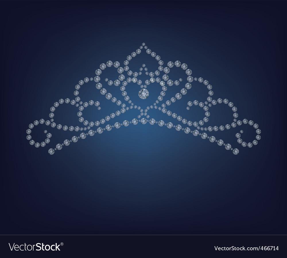 Diamond tiara - vector image