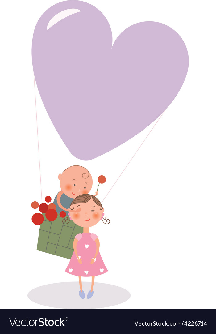 Hot air balloon card vector image