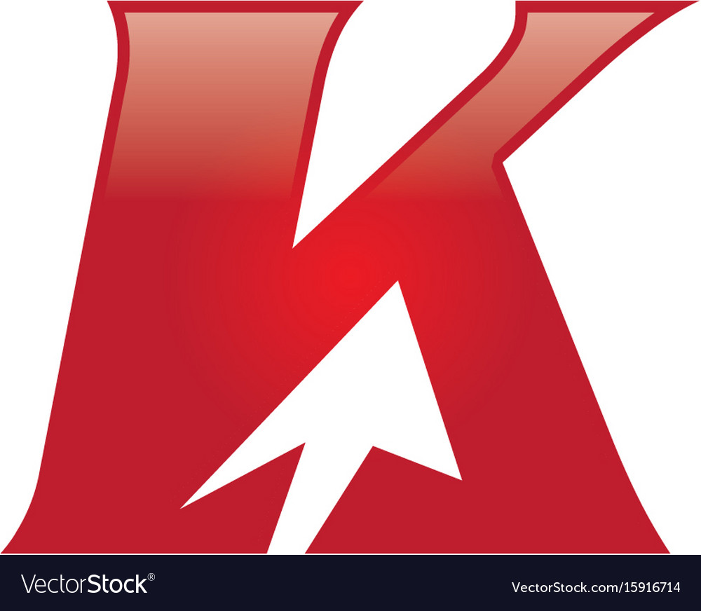 K letter arrow logo vector image