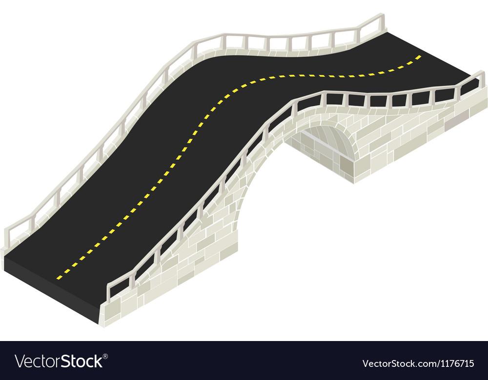 Isometric stone bridge Vector Image