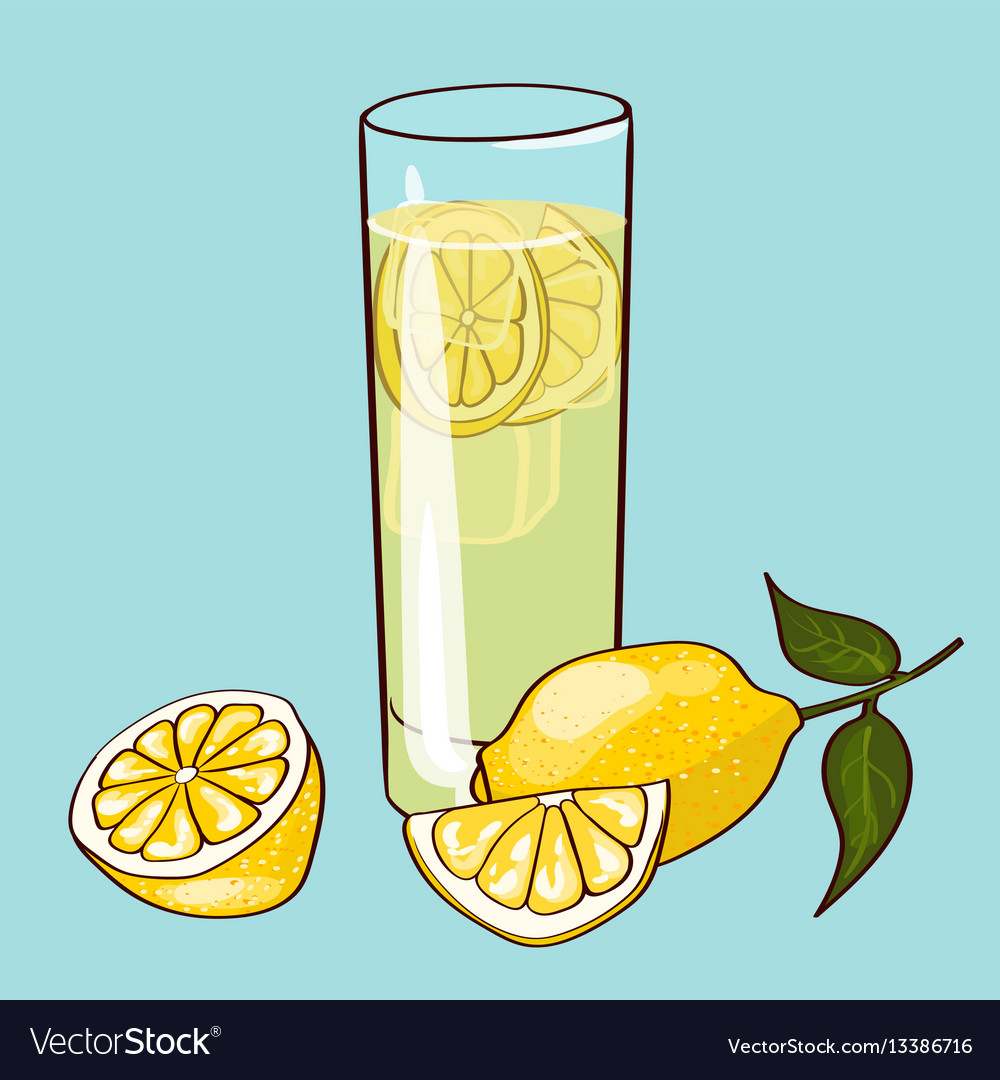 Flat fresh drink concept vector image