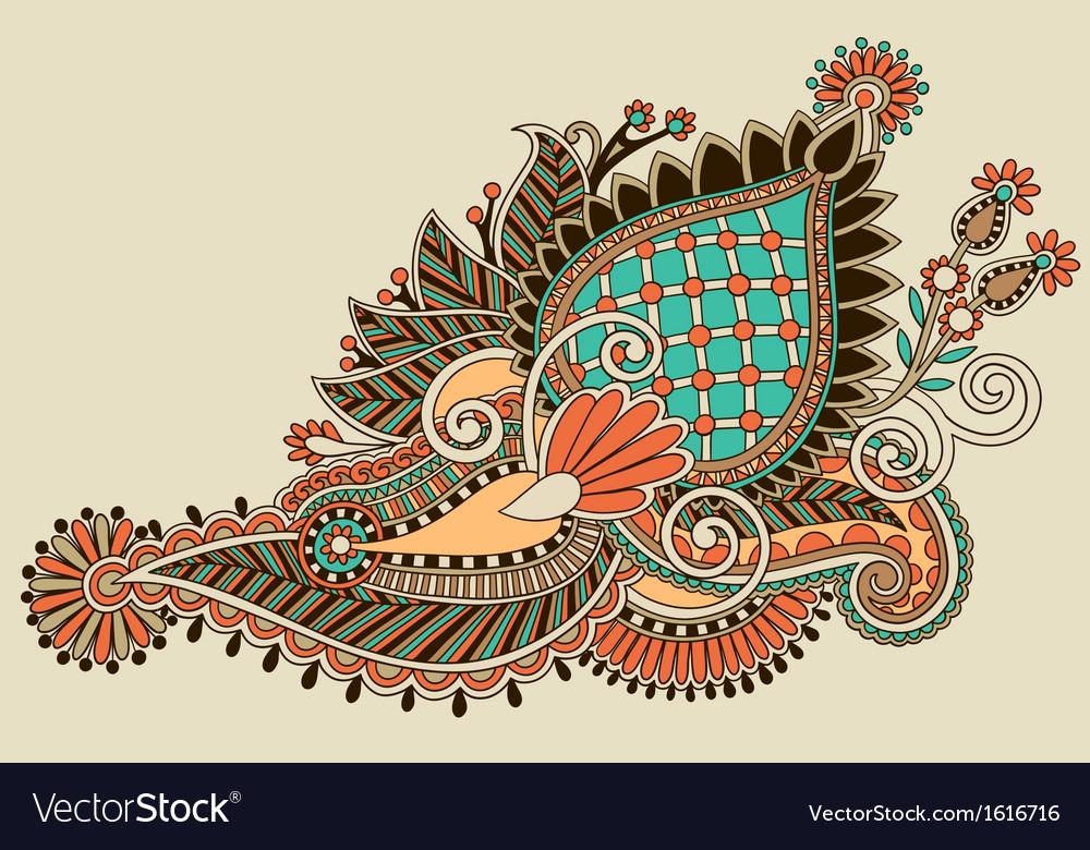Line Art Flower Design : Line art ornate flower design royalty free vector image