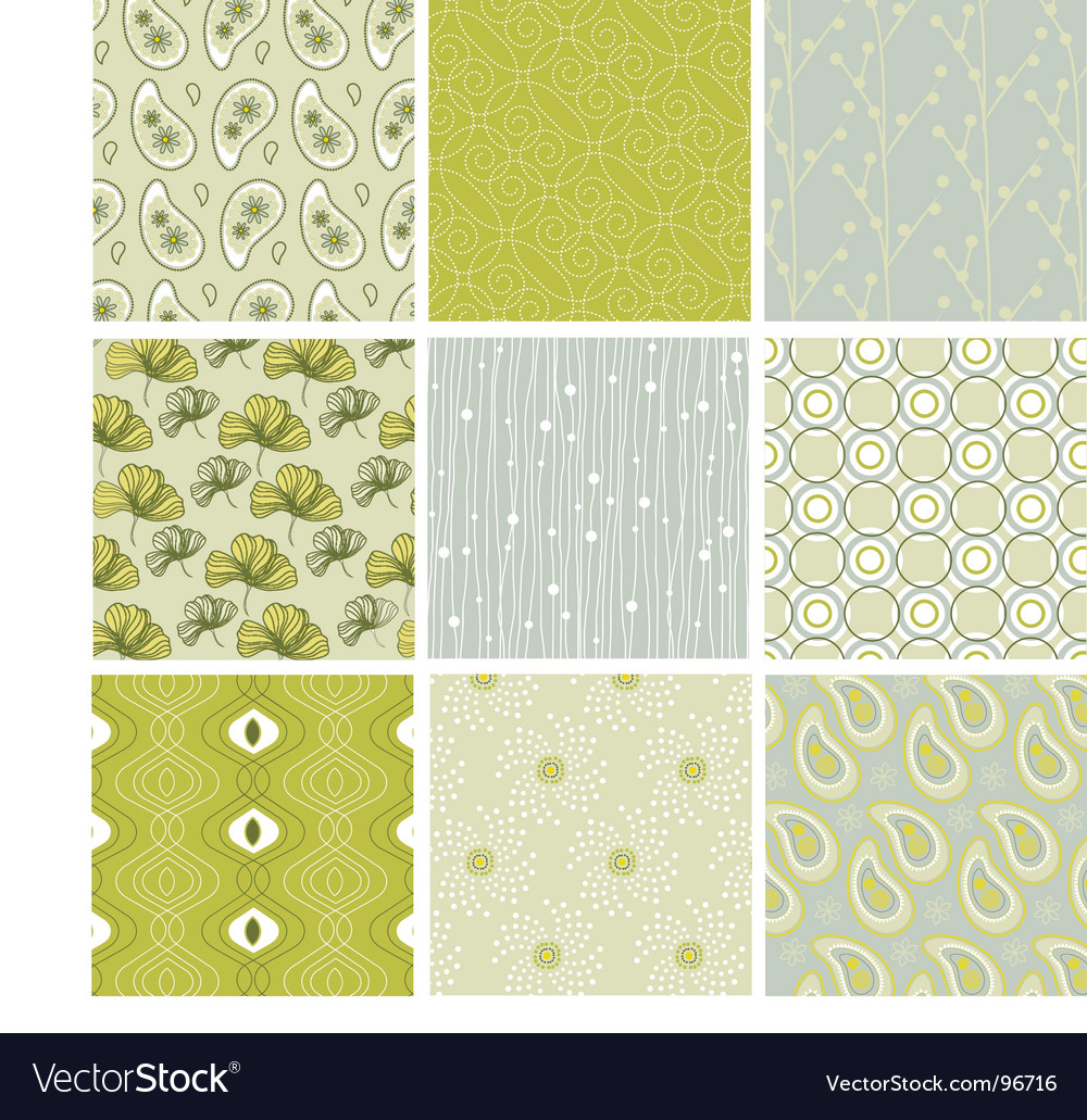 Nature patterns vector image