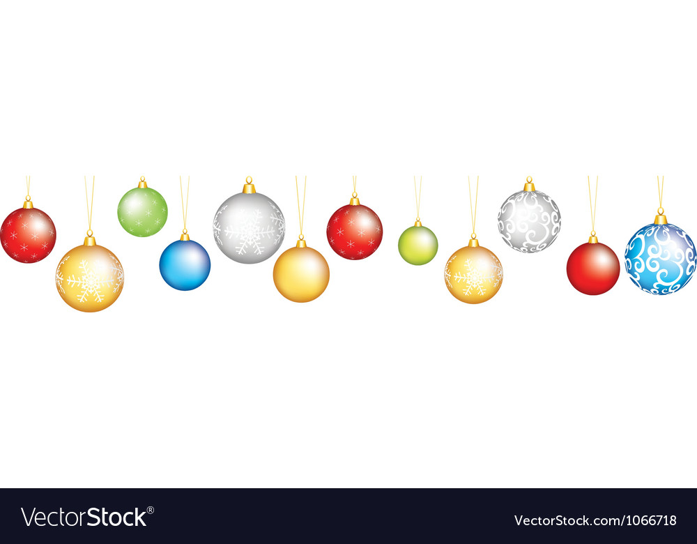 Baubles vector image