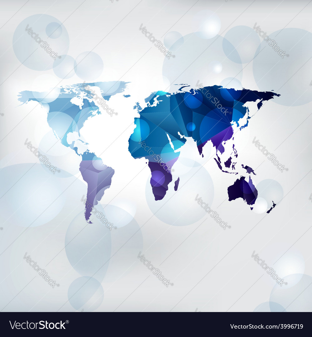 Edgy world map royalty free vector image vectorstock edgy world map vector image sciox Images