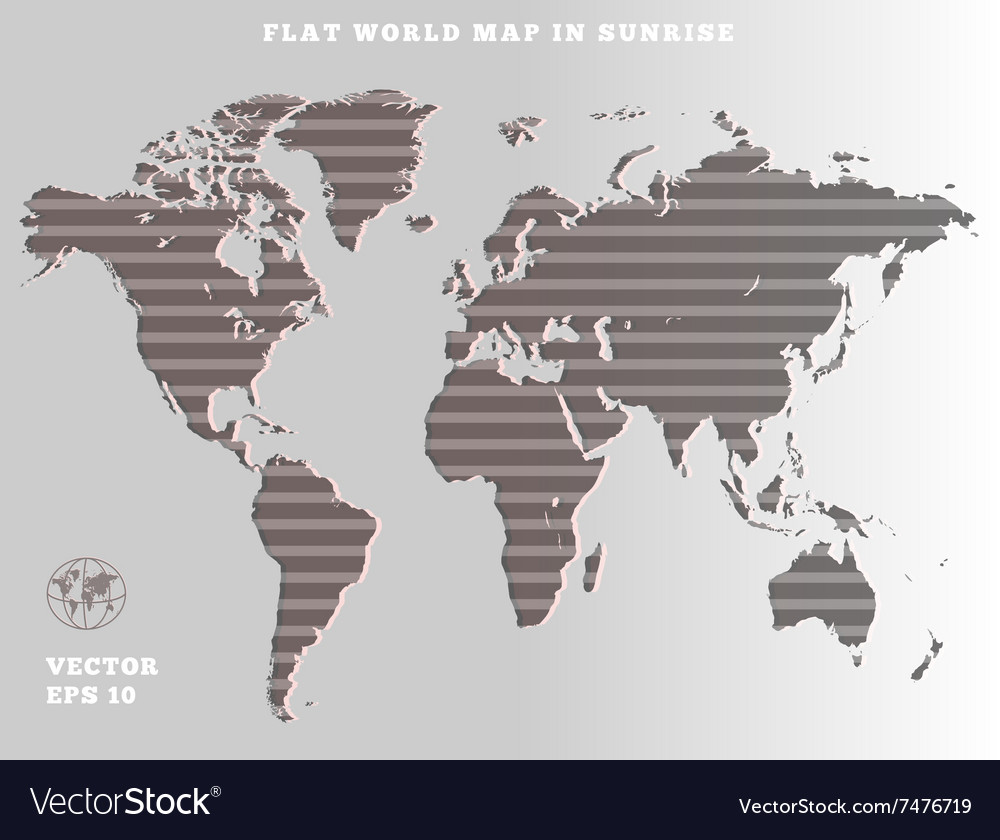 World map striped grey map silhouette on gray vector image world map striped grey map silhouette on gray vector image gumiabroncs Choice Image