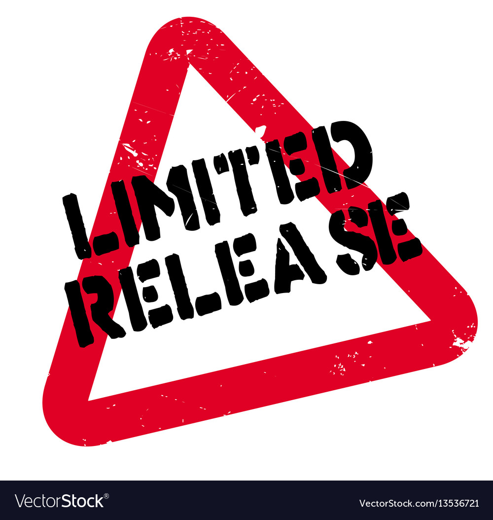 Limited release rubber stamp vector image