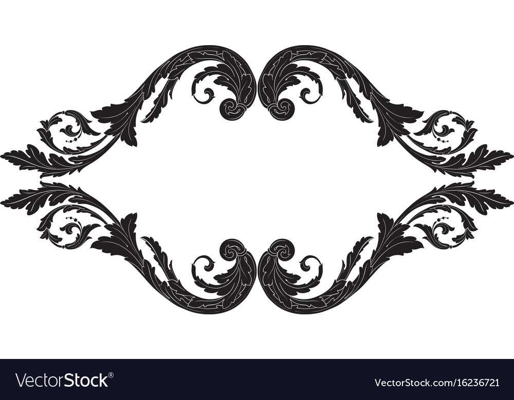 Ornament vintage baroque vector image