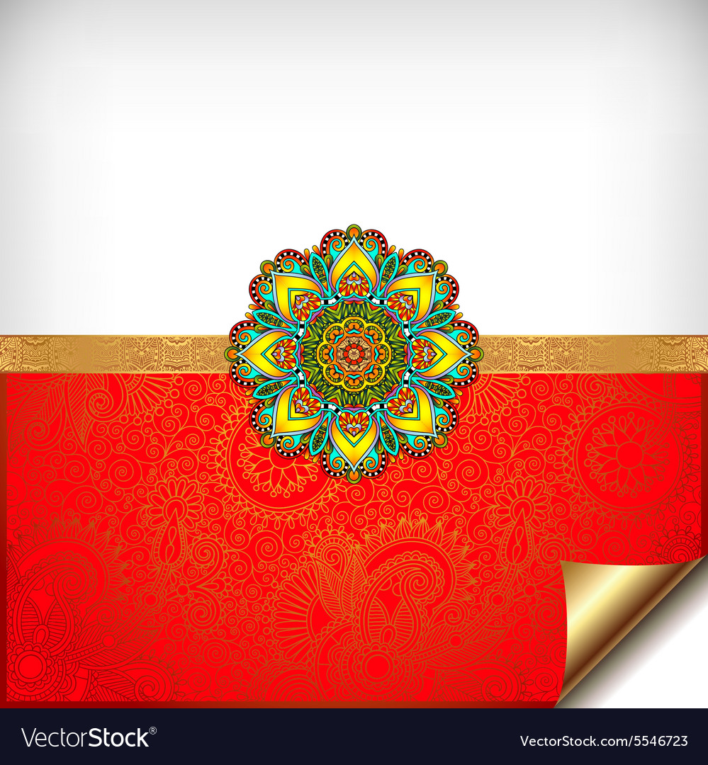 Gold and red happy rakhi greeting card royalty free vector gold and red happy rakhi greeting card vector image kristyandbryce Choice Image