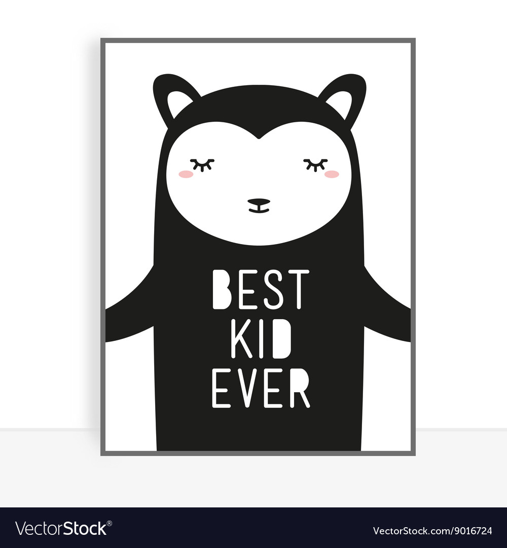 Cute poster for baby vector image