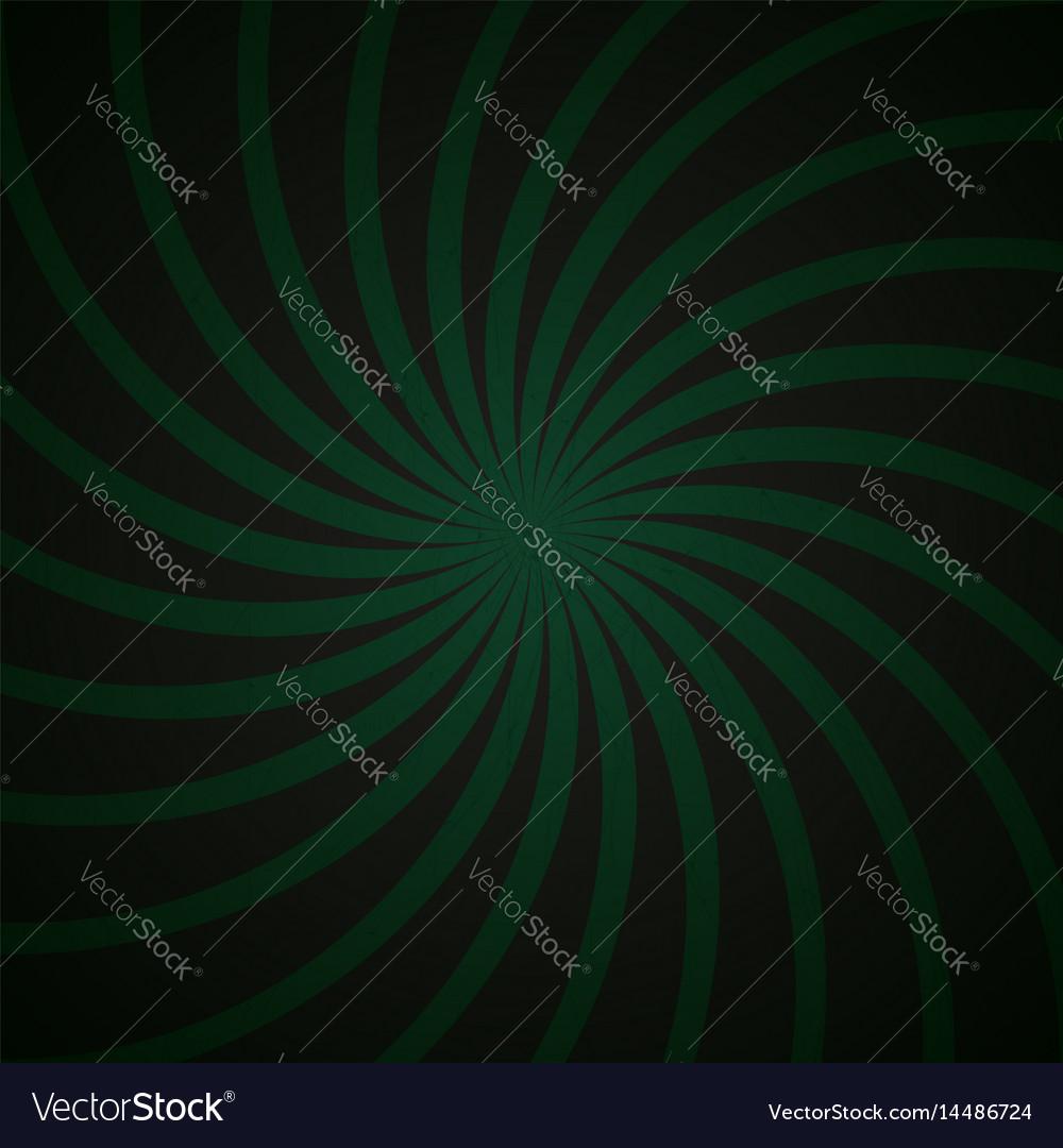 Green and black spiral vintage vector image