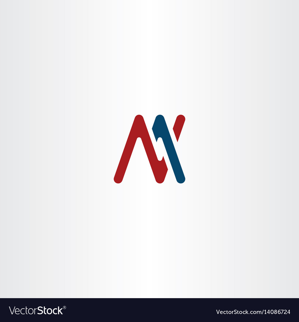 Letter m and n logo sign symbol vector image