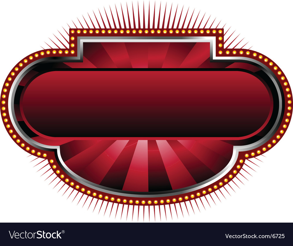 Marquee sign background vector image