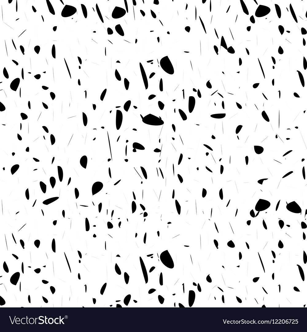 Seamless pattern textured hand drawn black spots vector image