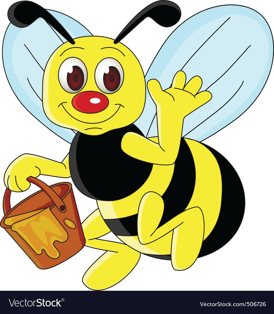 bee cartoon royalty free vector image vectorstock