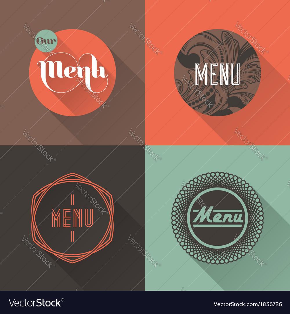 Labels for restaurant menu design vector image
