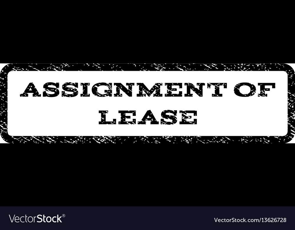 Assignment Of Lease Watermark Stamp Vector Image