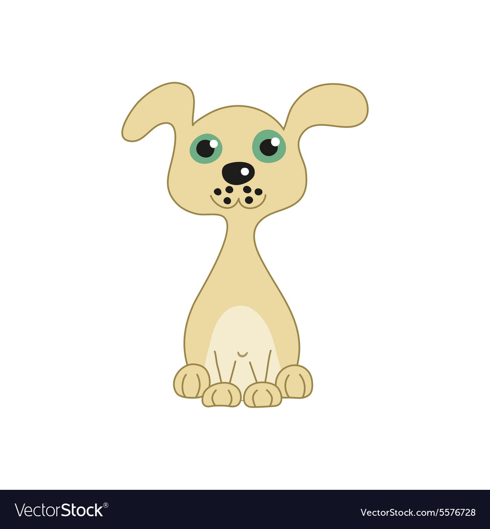 Funny doggy vector image