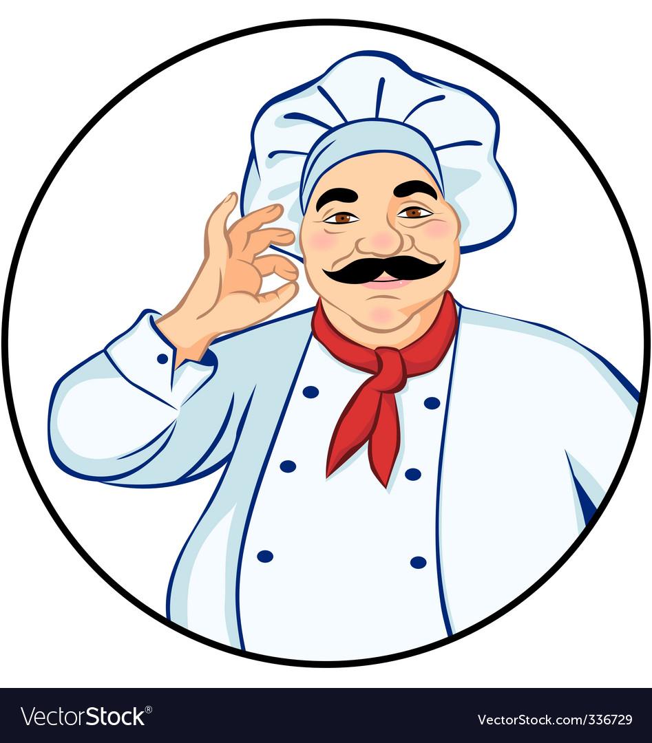 Happy chef vector image