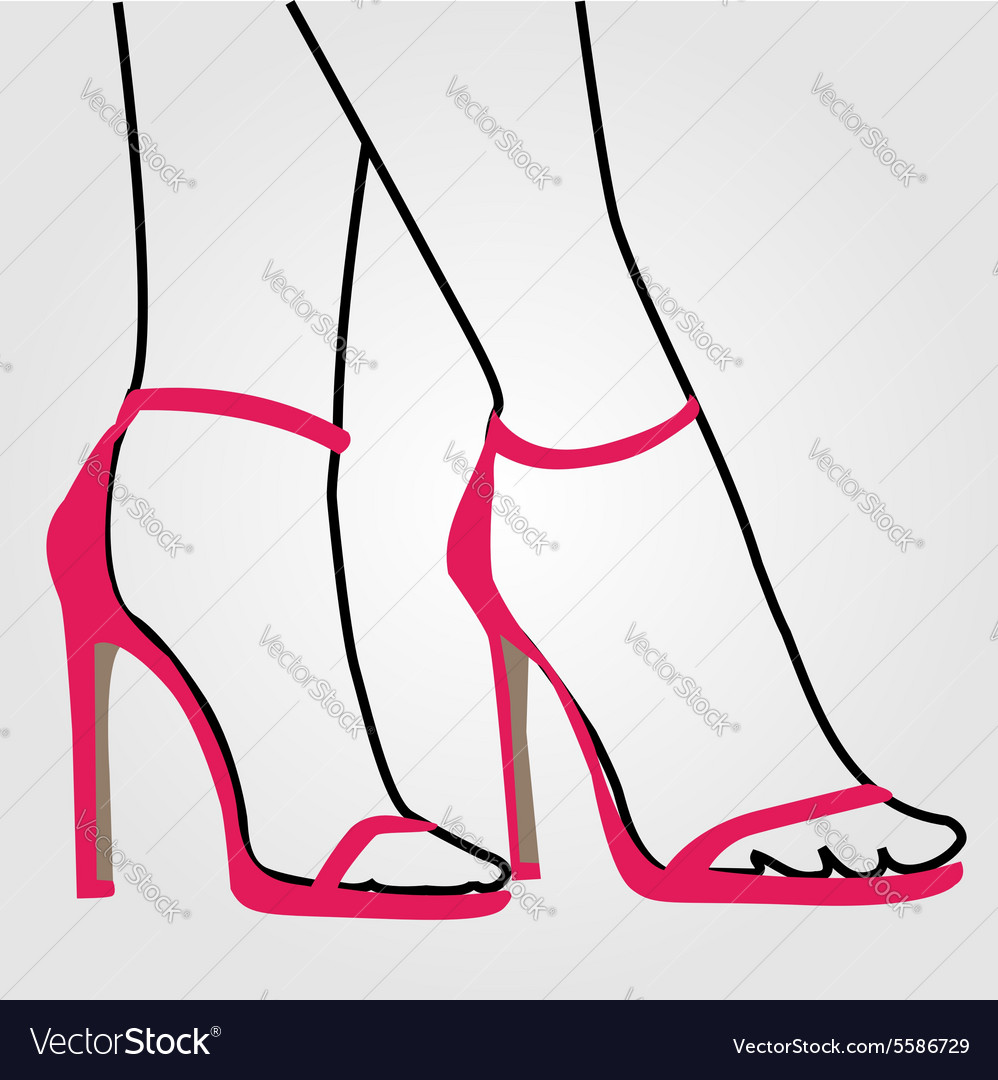 Legs of a woman wearing stilettos vector image