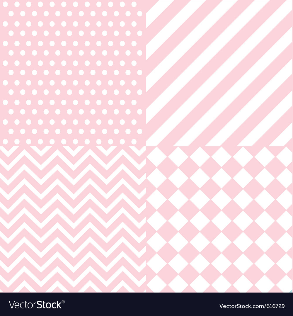 Seamless baby girl pattern vector image