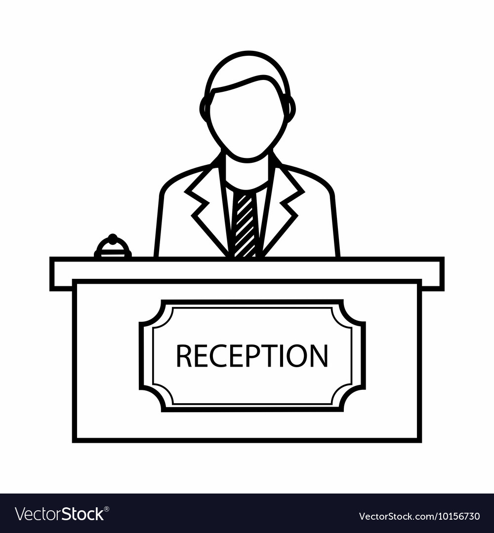 Reception icon outline style vector image