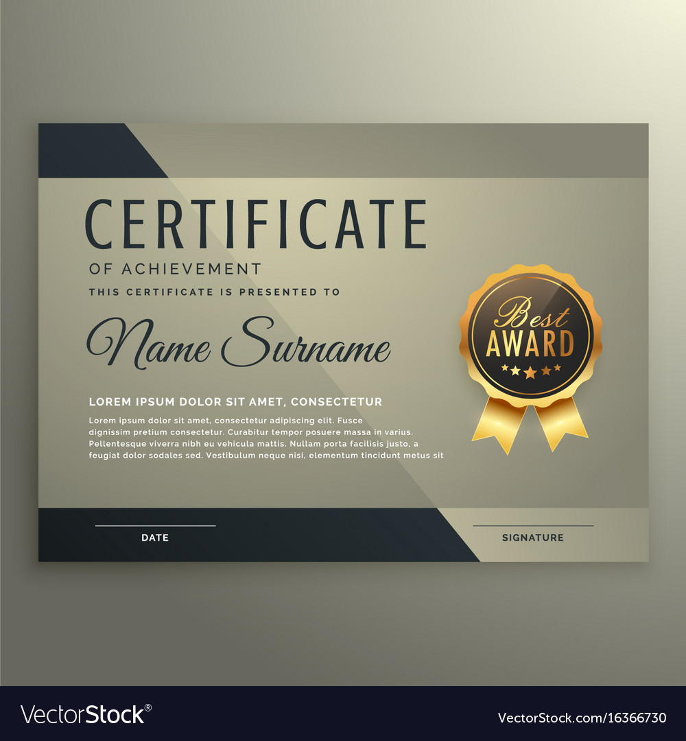 Vip premium certificate design template royalty free vector vip premium certificate design template vector image yadclub Images
