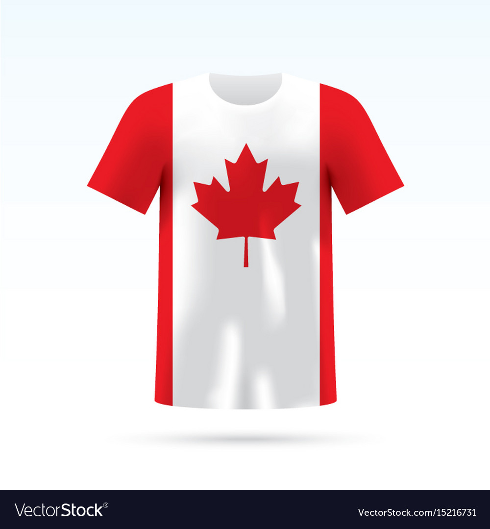 Canada flag t-shirt vector image