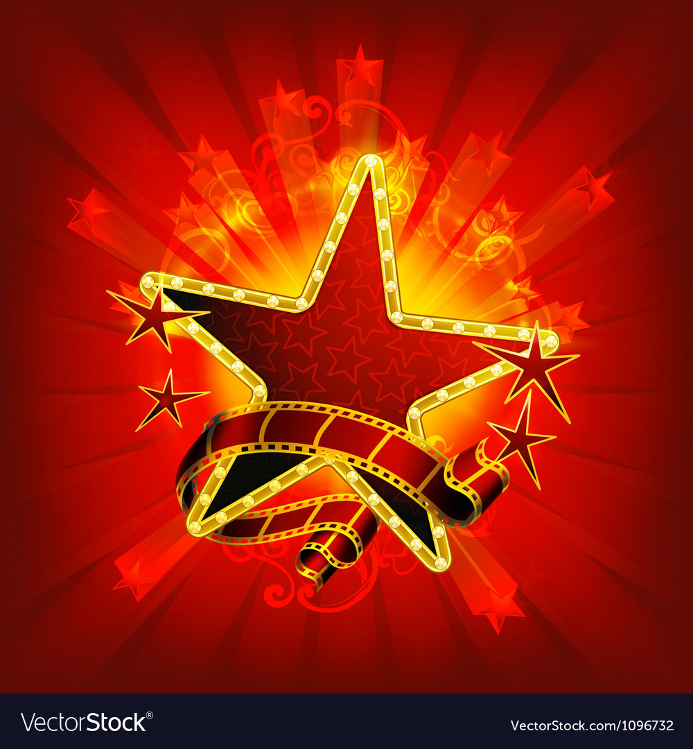 Movie stars red vector image