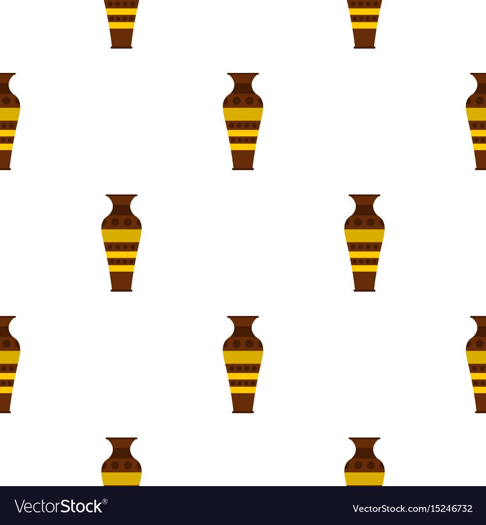 Egyptian pottery vessel pattern seamless vector image