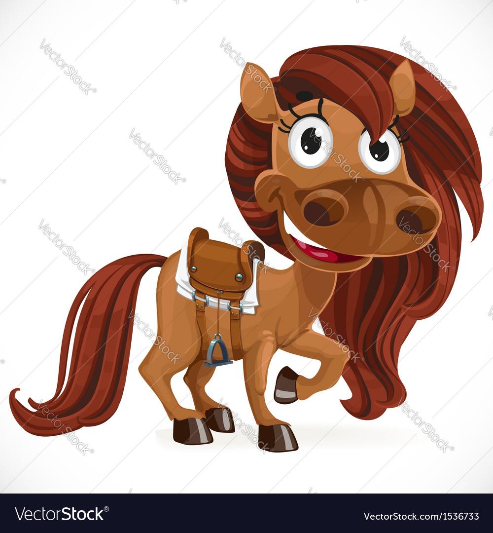 cute cartoon baby horse royalty free vector image