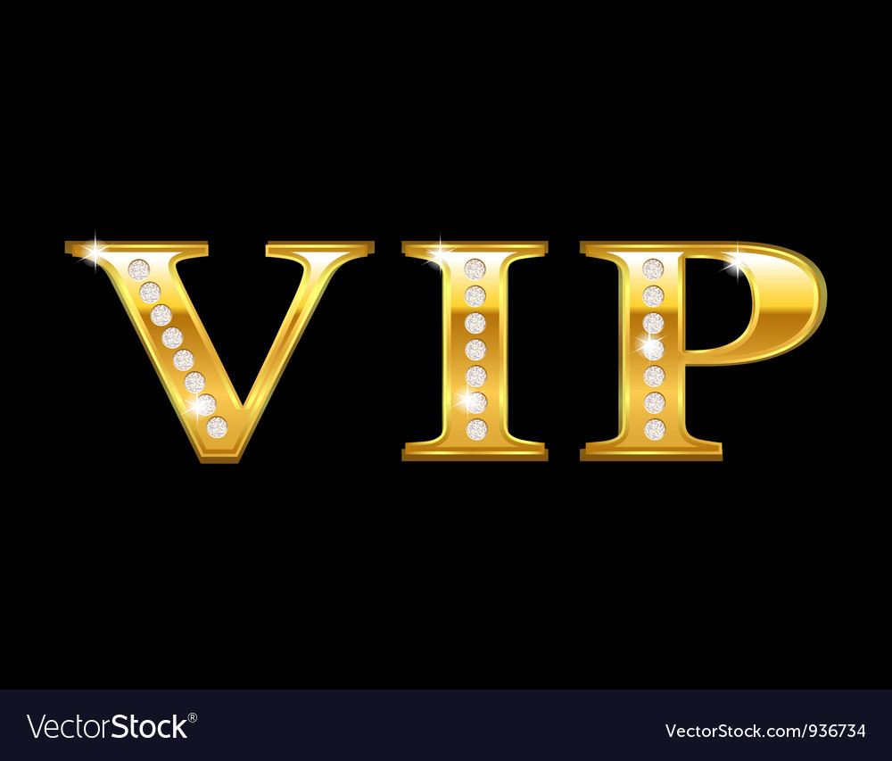 Vip golden card Vector Image
