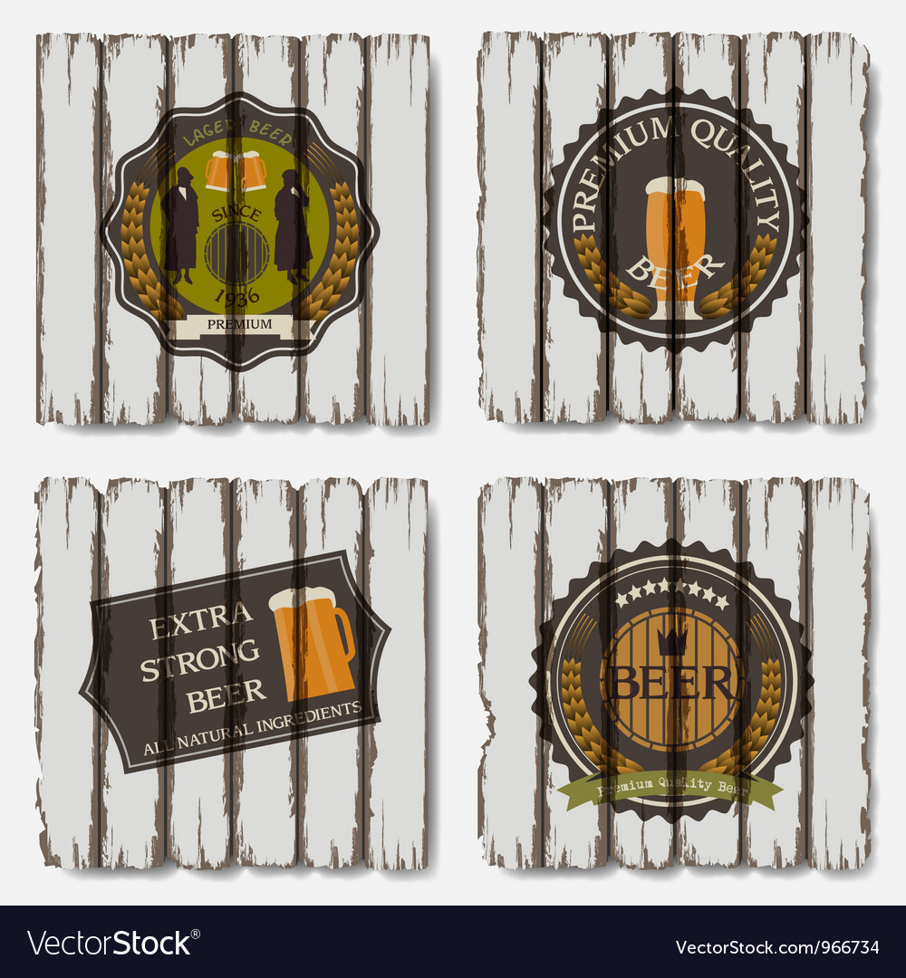 Beer badges and labels vector image