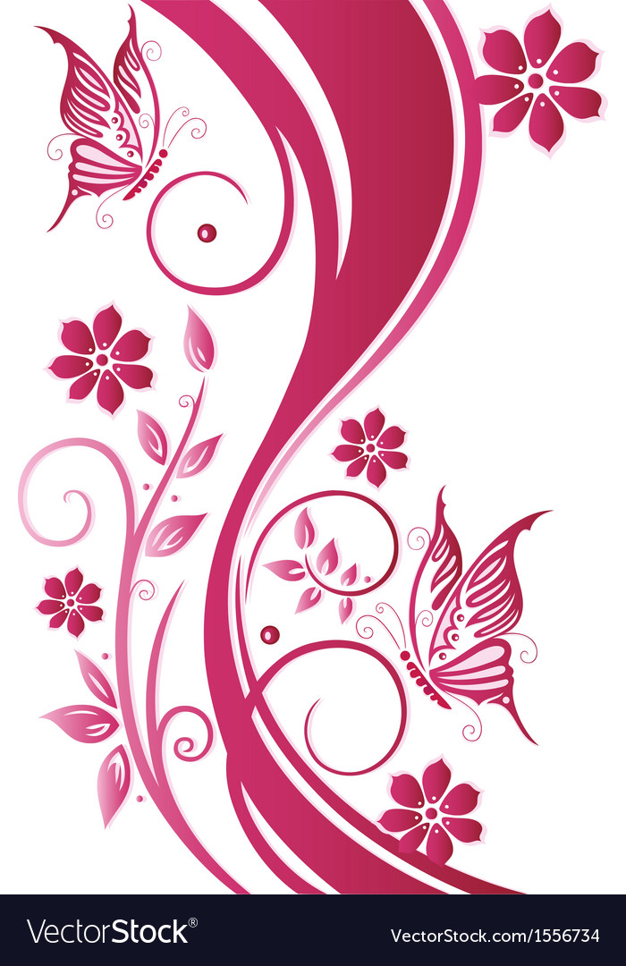 Flowers floral element summer vector image
