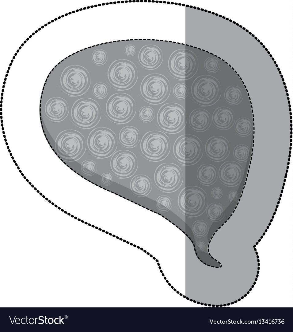 Gray drop chat bubble icon vector image