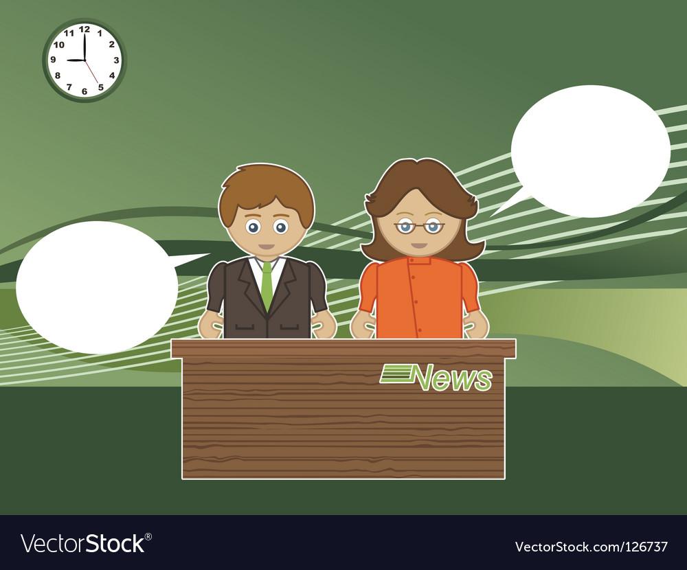 News readers vector image