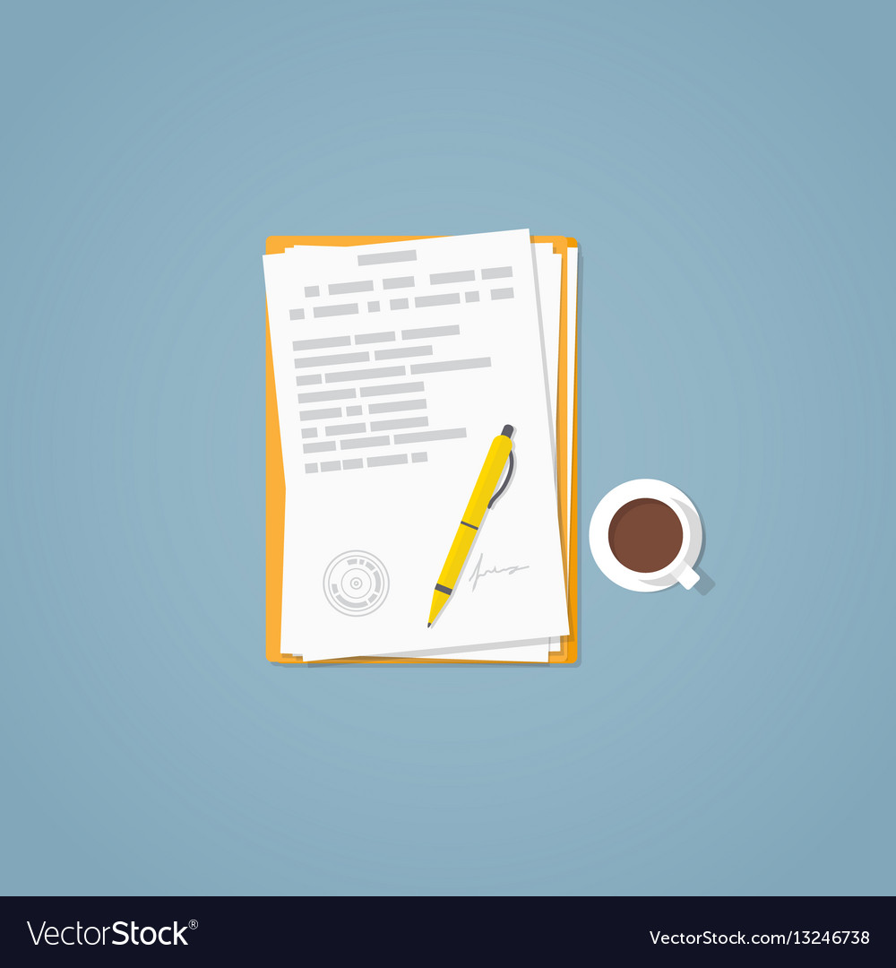 Flat paper document vector image
