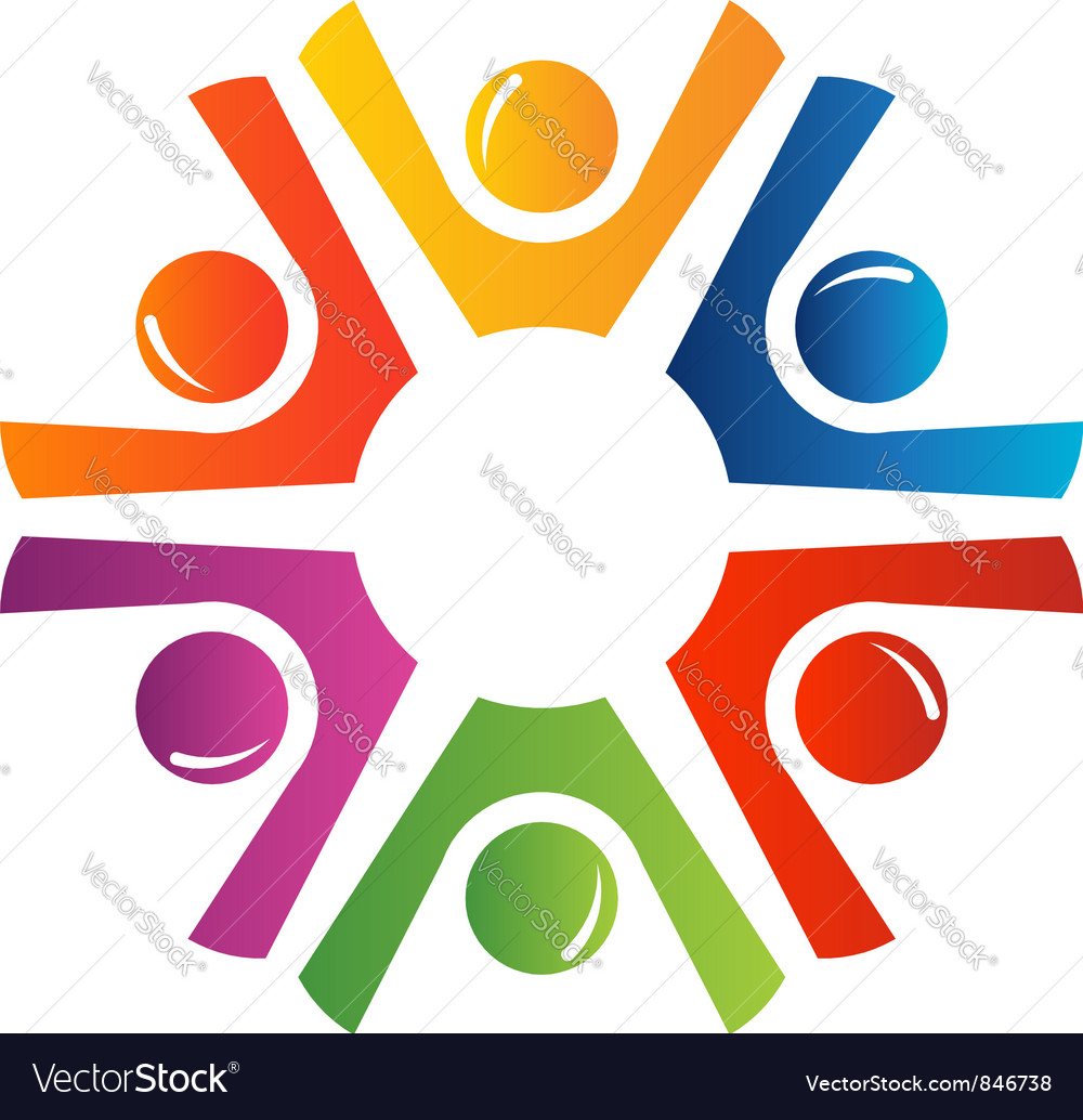 Happy teamwork vector image