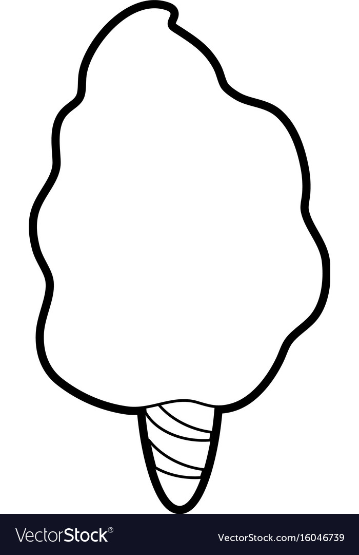 Delicious cotton candy icon image vector image
