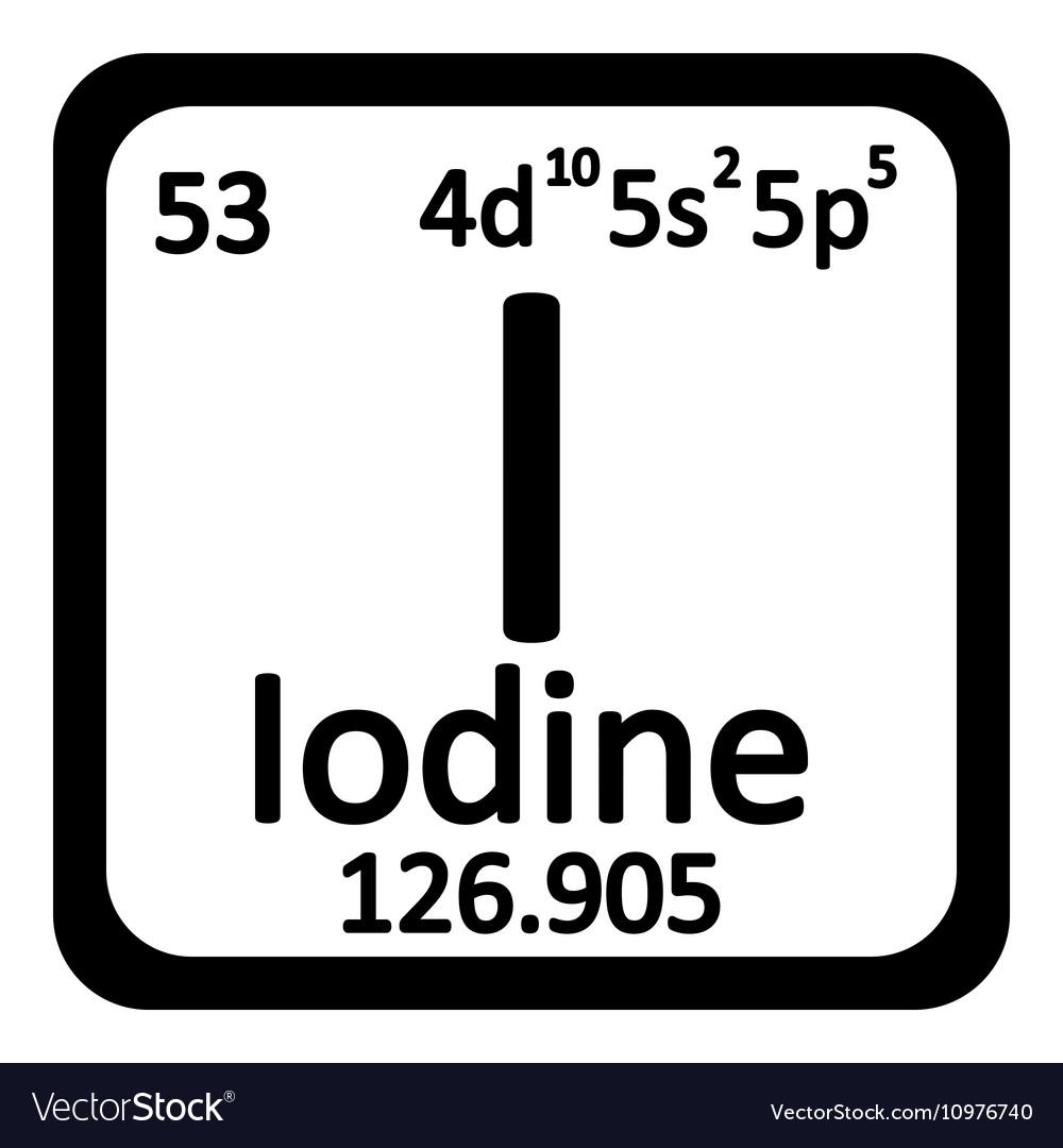 Periodic table element iodine icon royalty free vector image periodic table element iodine icon vector image urtaz Choice Image