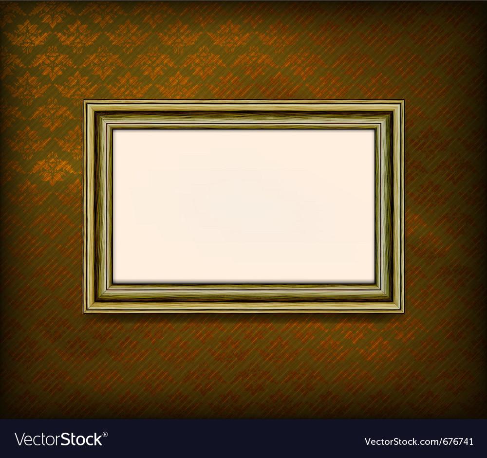 Old wooden frame vector image