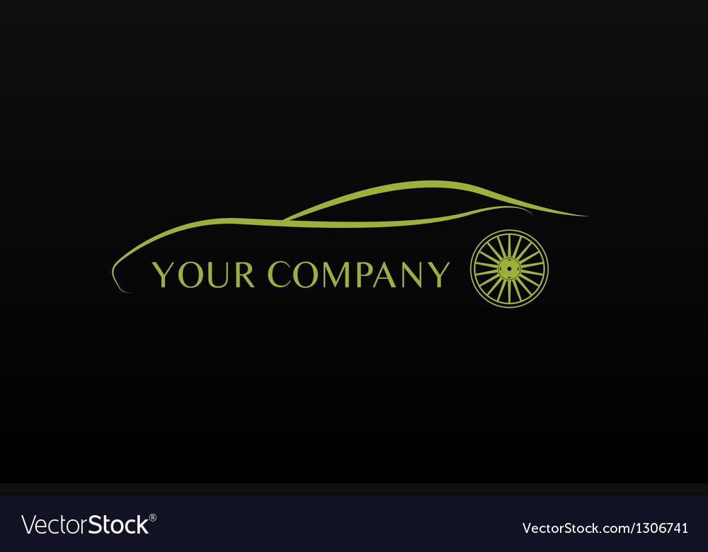 Green car logo vector image