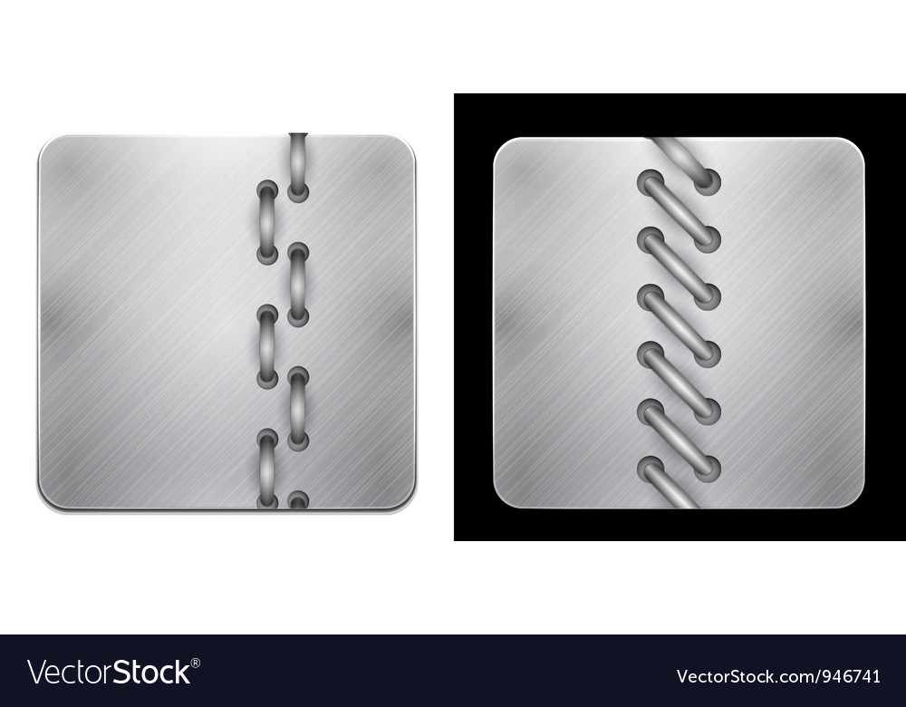 Metal app icons with rope vector image