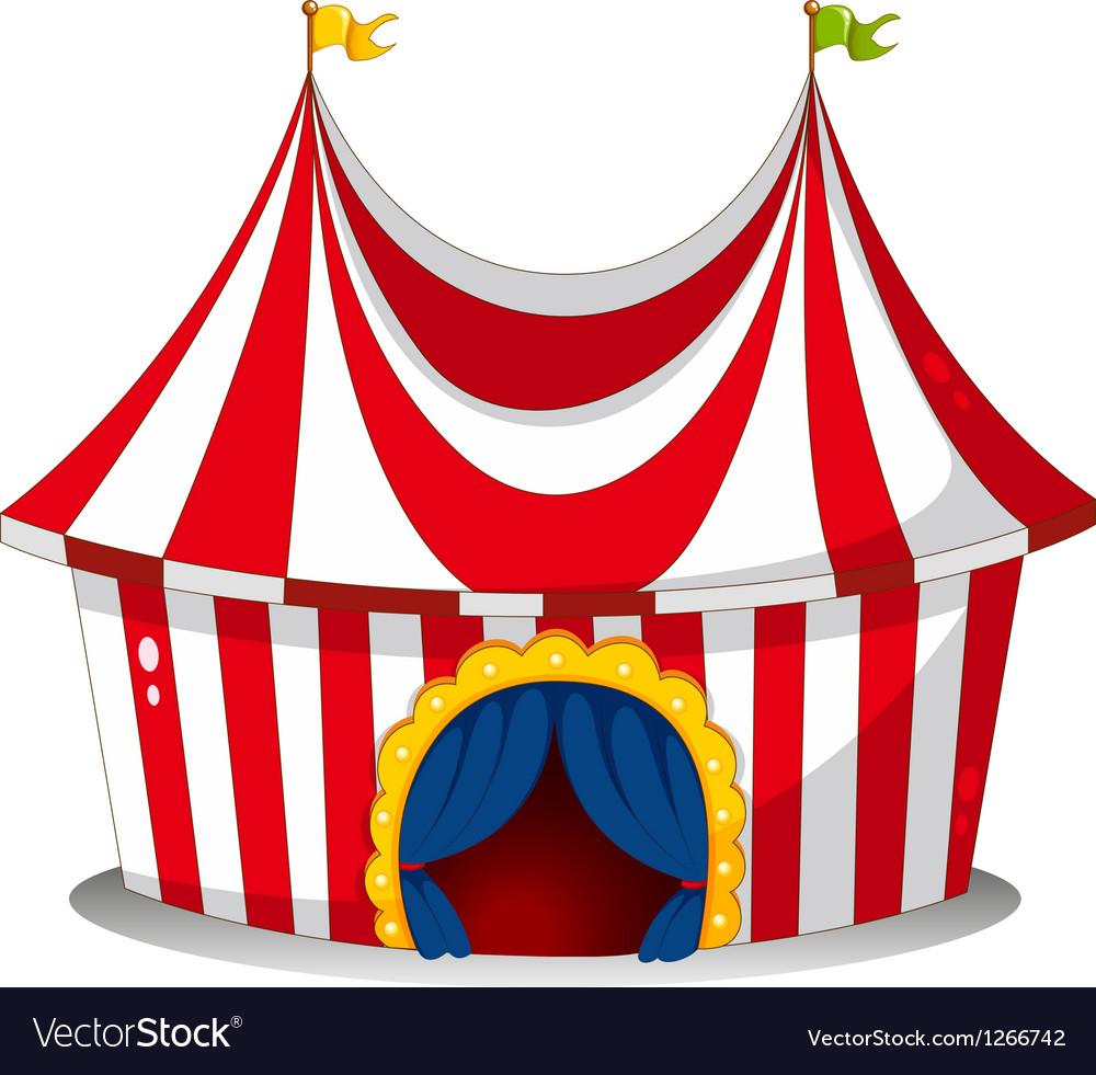 A circus tent vector image