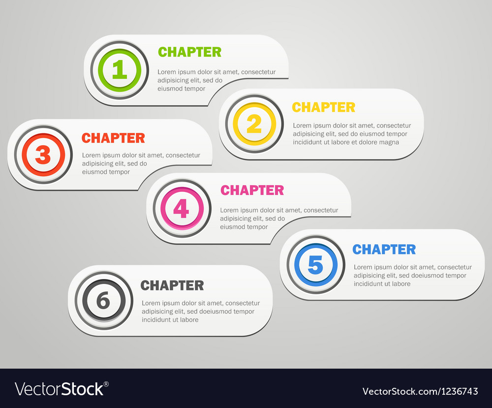 Infographics banners design with icons vector image