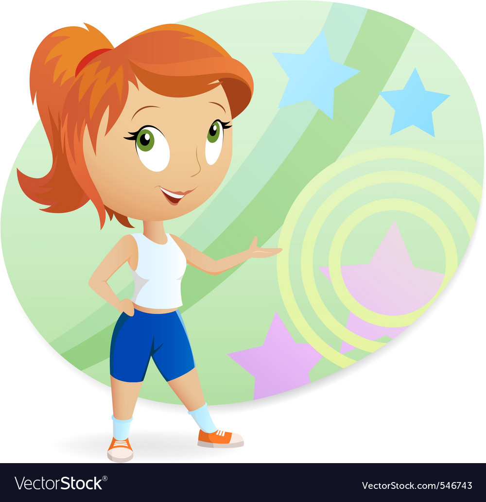 Cartoon sports girl vector image