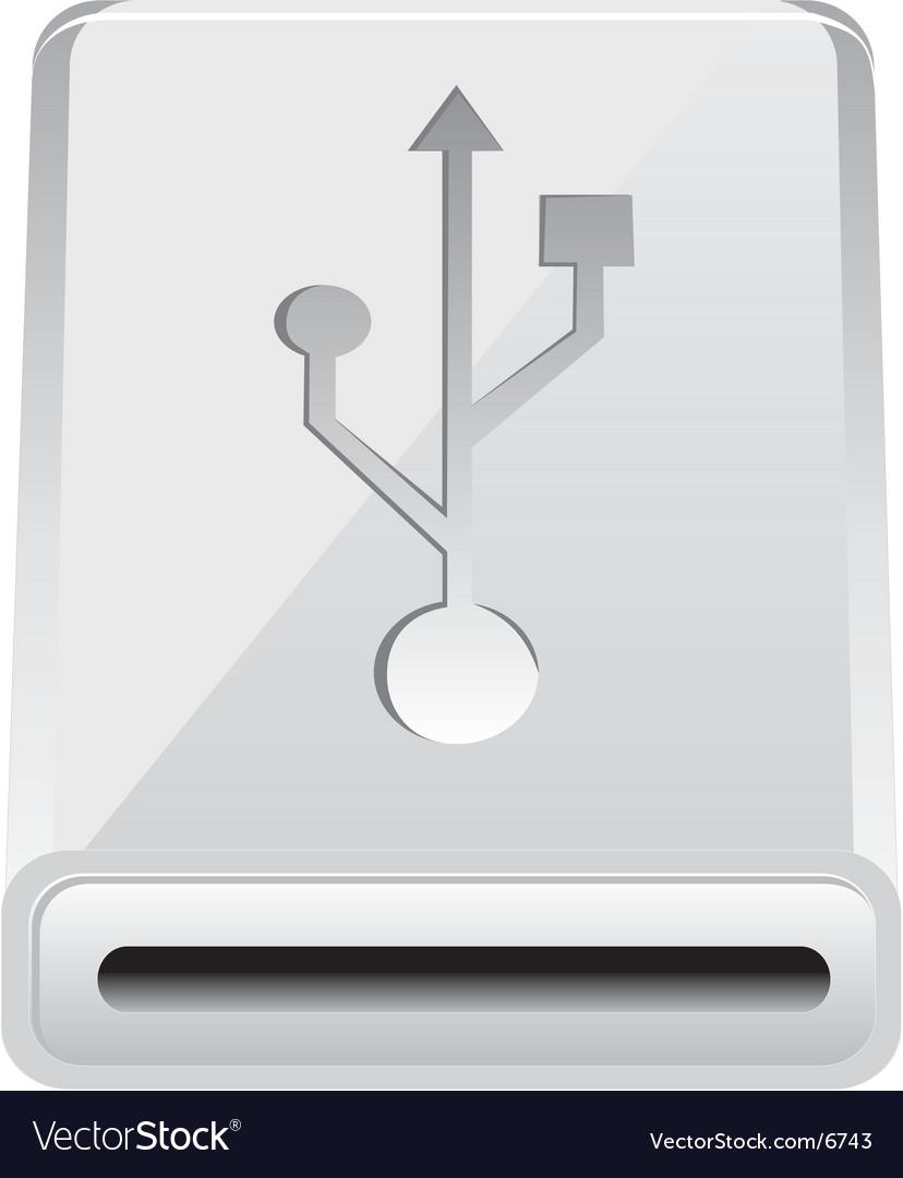 USB hub vector image